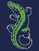 vector of crocodile reptile mascot