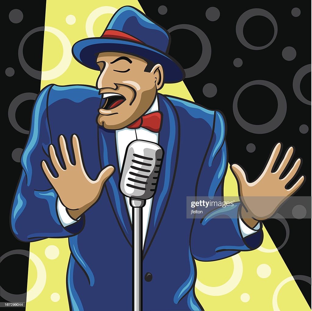 Crooner : Vector Art