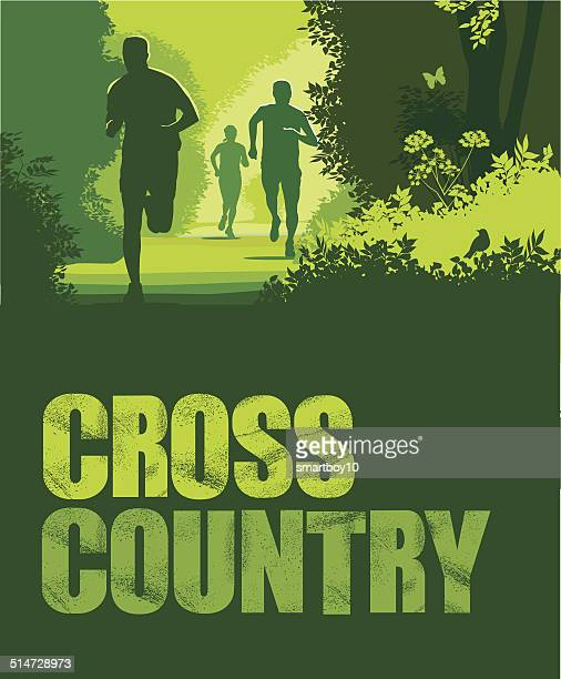 Cross country or Trail Running with text