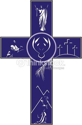 Cross Depicting Crucifixion Resurrection Vector Art Thinkstock