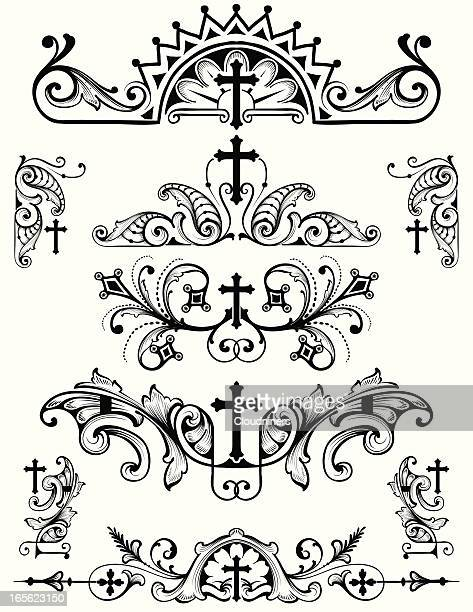 Cross Ornament Set christian religion symbols