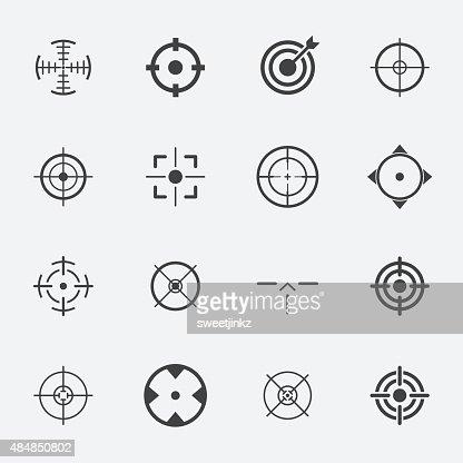 crosshairs icon set. : stock vector