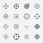 crosshairs icon set.