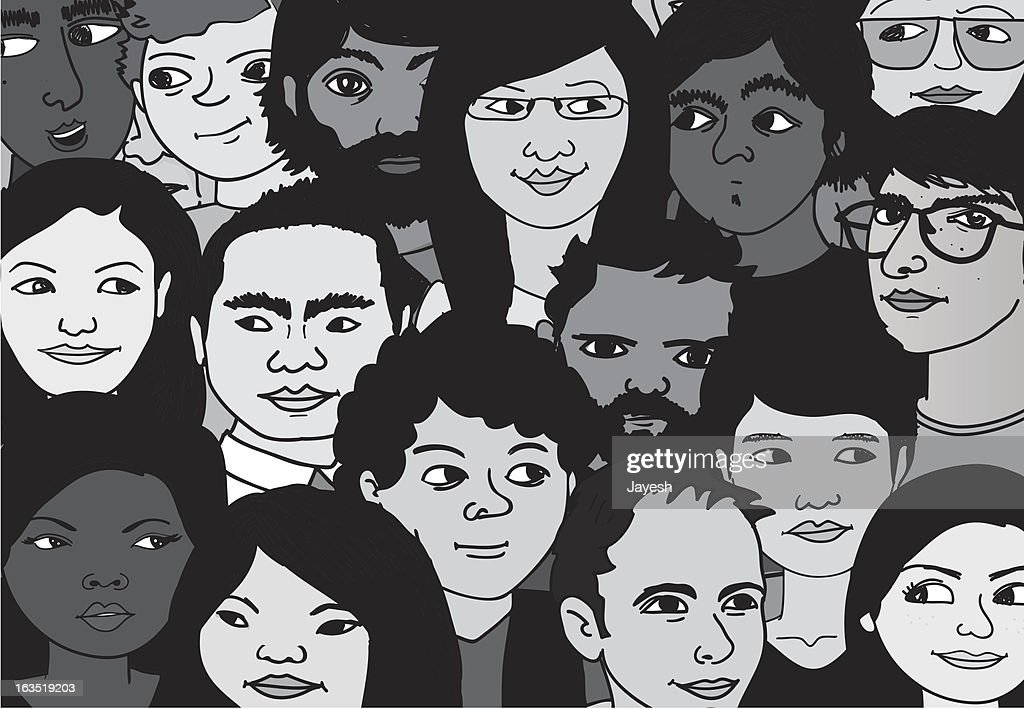 Crowd of People : Vector Art