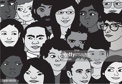 Crowd of People : Vector Art
