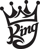 crown king typography