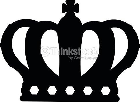 Crown Silhouette Symbols Vector Art Thinkstock