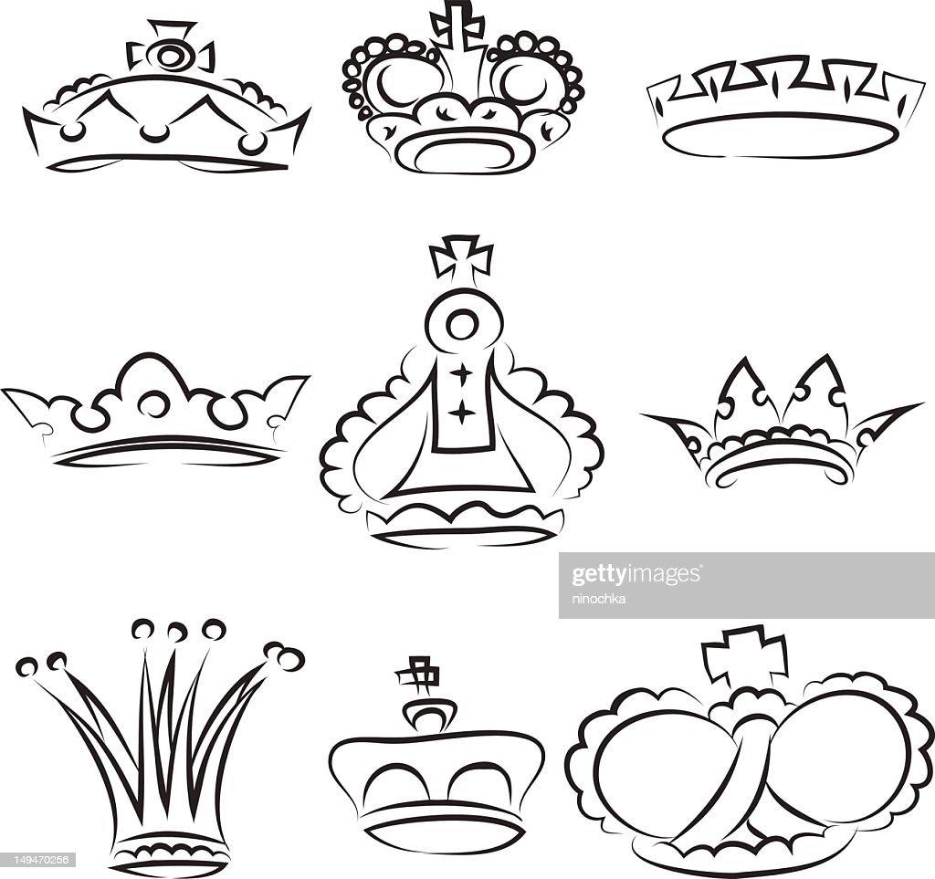 crowns : Vector Art