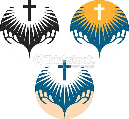 Crucifix Symbol Crucifixion Of Jesus Christ Icons Church Logo Vector