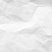 Crumpled Paper Texture. White empty leaf of crumpled paper. Torn surface of letter blank. Crumpled sheet of paper background for your design. Vector illustration