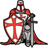 Vector Illustration of a Crusader Knight with Sword and Shield.