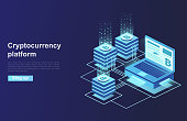 Cryptocurrency and blockchain. Platform creation of digital currency. Web business, analytics and management.