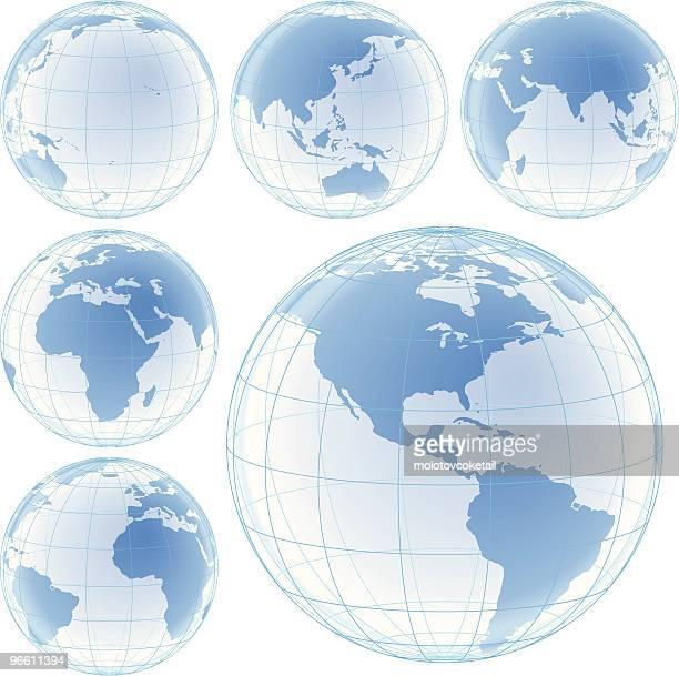 crystal globes set