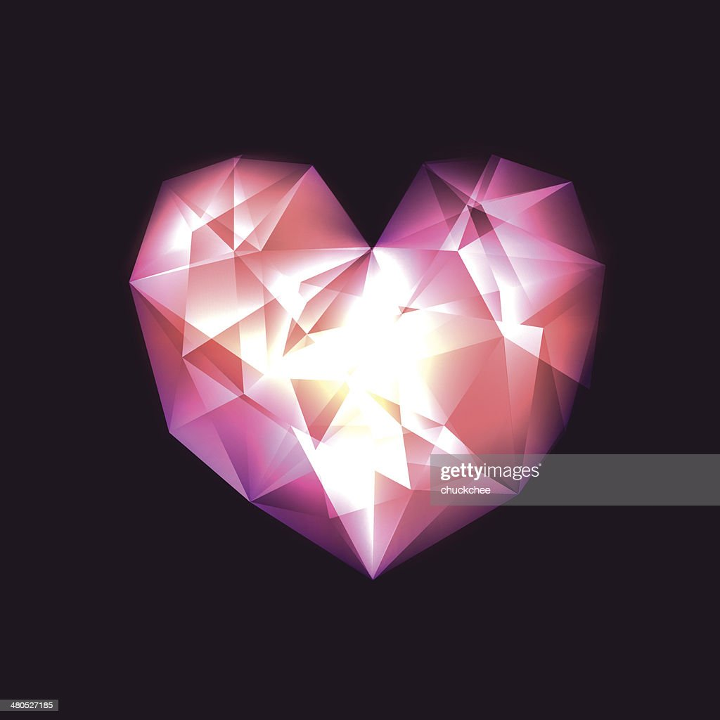 Crystal Heart : Vector Art