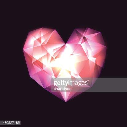 Kristall-Herz : Vektorgrafik