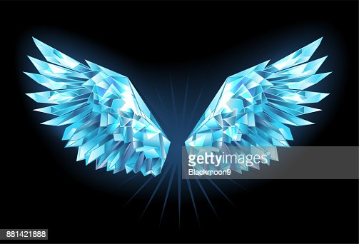 Crystal ice wings : stock vector