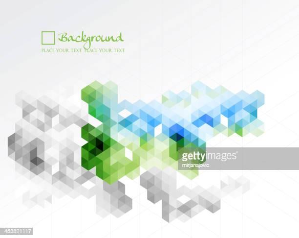 cube mosaic background
