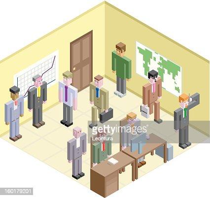 立方体のビジネスマン : ベクトルアート
