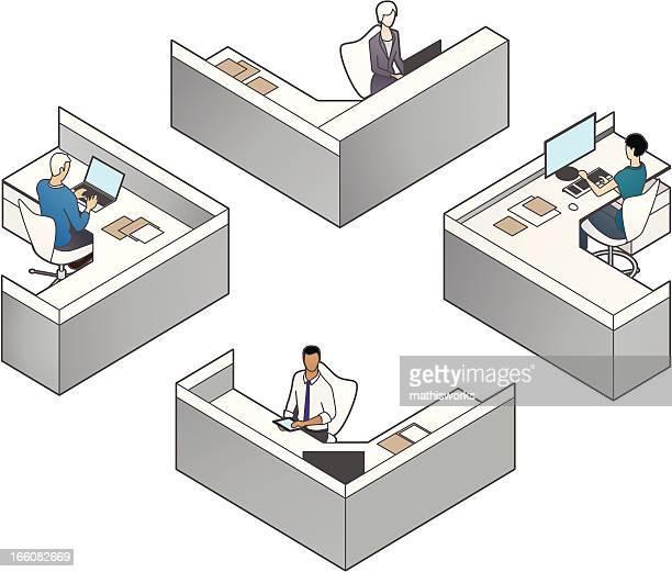 Cubicles Illustration