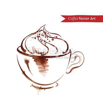 Eine tasse cappuccino vektorgrafik thinkstock - Bilder cappuccino ...