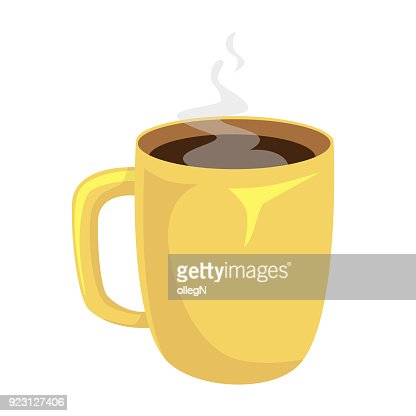 Cup of coffee isolated. Coffee cup vector illustration : stock vector