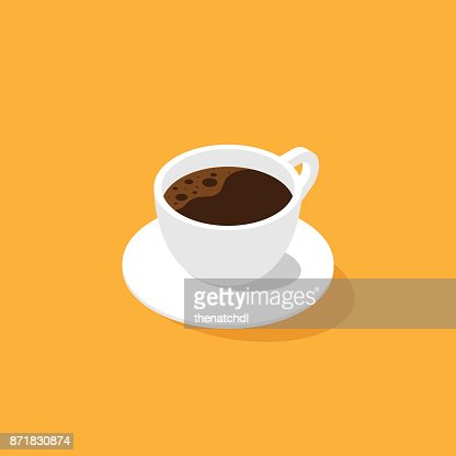 A cup of coffee isometric flat design : stock vector