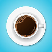 Cup of tasty coffee. Vector illustration.