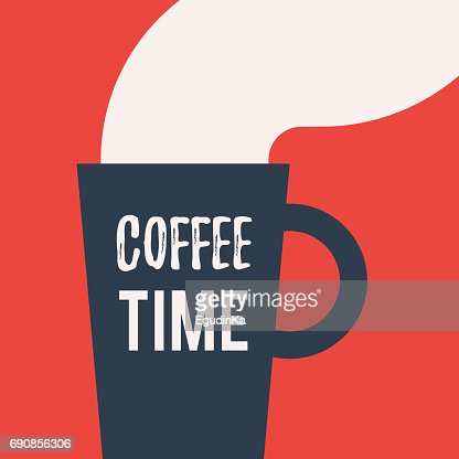Cup with lettering Coffee time : stock vector