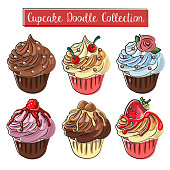 cupcake doodle collection