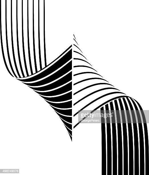 Curled motif rayé-teintes et Gradient