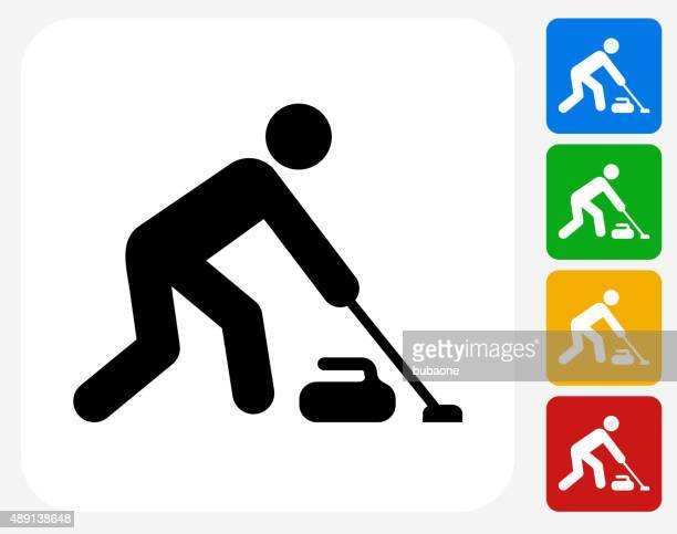 Curling Icon Flat Graphic Design