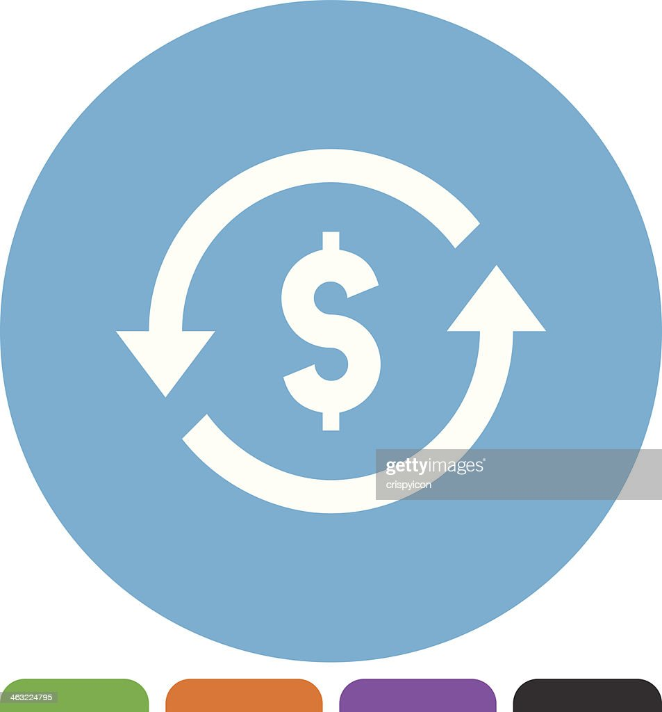 Currency Exchange Icon Vector Art