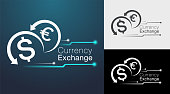 digital currency exchange sign board & icon design.