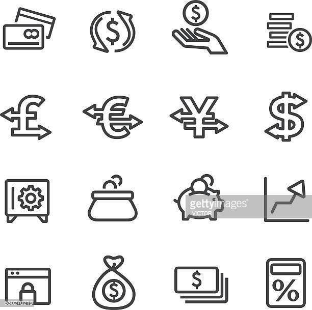 Valuta icone-Serie linea