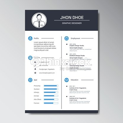 Curriculum Vitae Design Template Vector Art Thinkstock