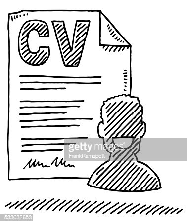 Curriculum Vitae Form Person Symbol Drawing Vector Art
