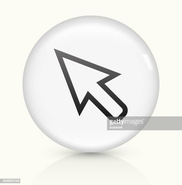Cursor icon on white round vector button