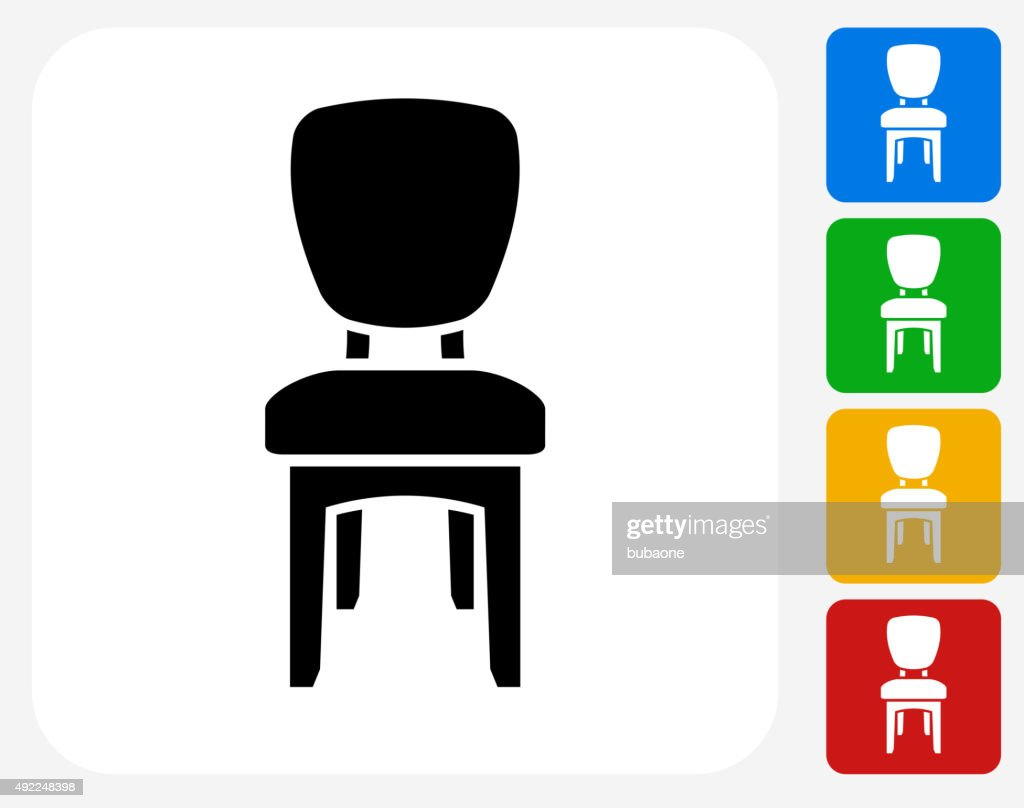 dining chair clipart. cushion dining chair icon flat graphic design : vector art clipart