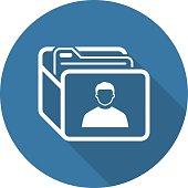 Customer Base Icon. Business Concept. Flat Design. Isolated Illustration.