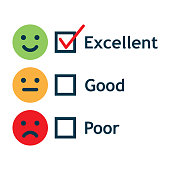 Customer Service Satisfaction Survey Form. Quality control. vector illustration.