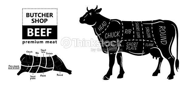 Cut of beef set poster butcher diagram cow vintage typographic cut of beef set poster butcher diagram cow vintage typographic hand drawn ccuart Gallery