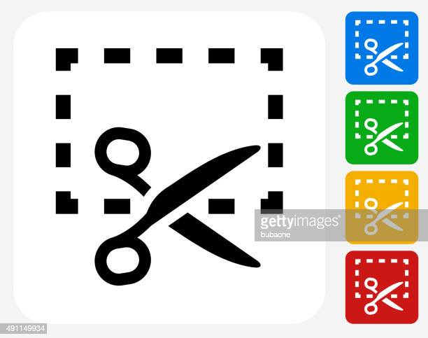 Cut Out Icon Flat Graphic Design