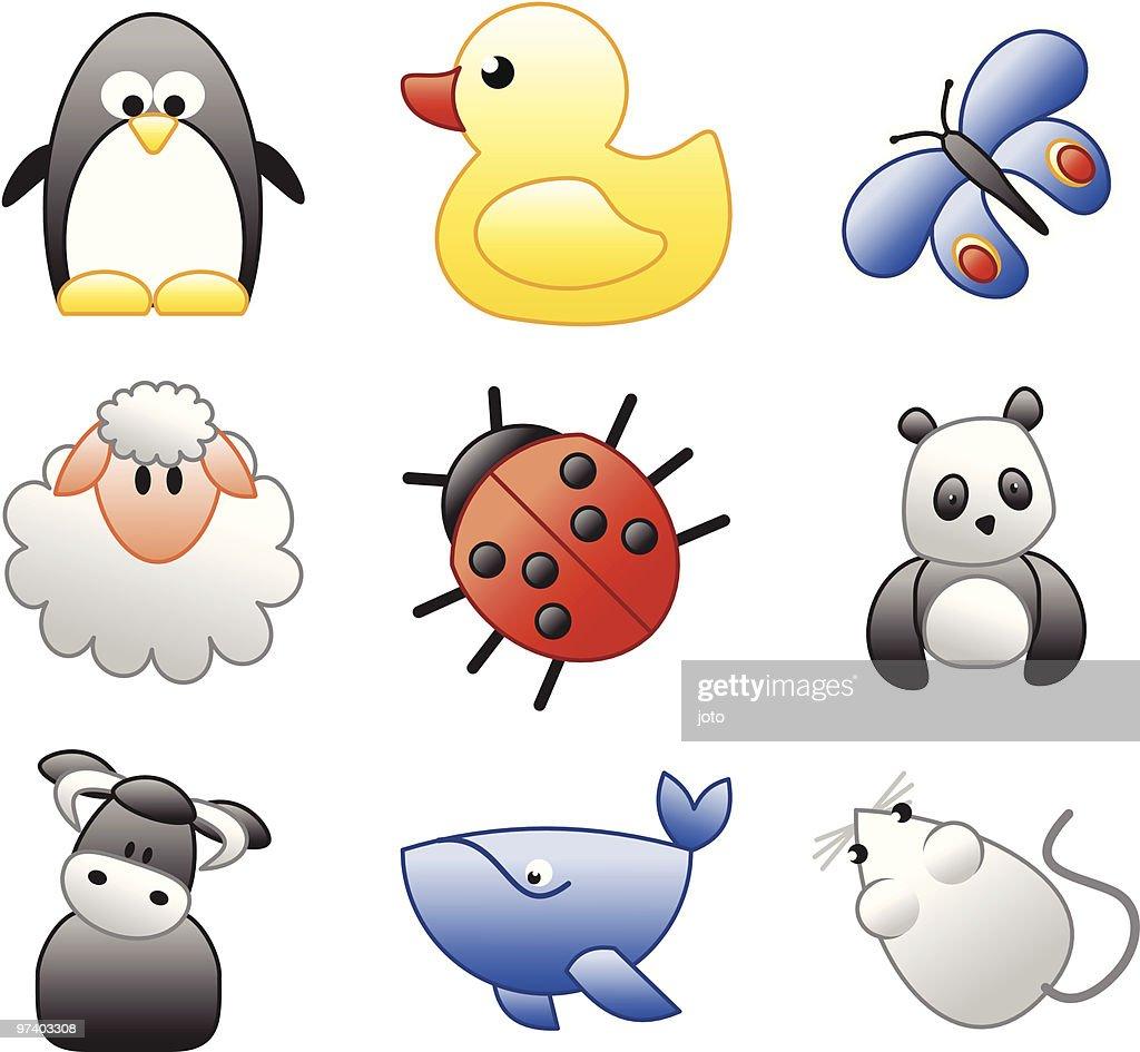 Cute animals : Vector Art