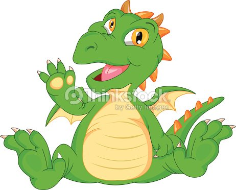 cute baby dinosaur cartoon waving vector art thinkstock. Black Bedroom Furniture Sets. Home Design Ideas
