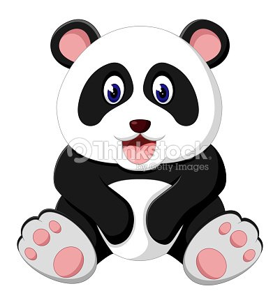 Dessin Anime Mignon Bebe Panda Clipart Vectoriel Thinkstock