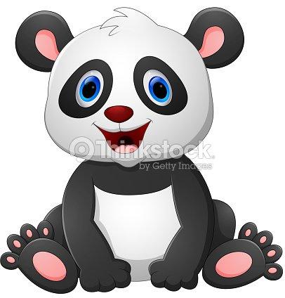 Mignon Bebe Panda Dessin Anime Clipart Vectoriel Thinkstock