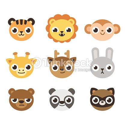 Cute cartoon animal faces vector art thinkstock cute cartoon animal faces vector art voltagebd Gallery