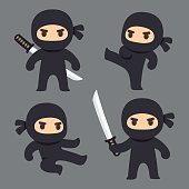 ninja stock photos and illustrations - royalty-free images