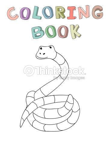 Carácter De Serpiente De Dibujos Animados Lindo Ilustración ...