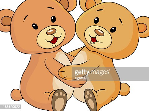 Ours En Dessin Anime Mignon Couple Clipart Vectoriel Thinkstock